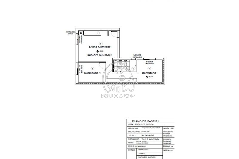 Plano aptos 2 dormitorios