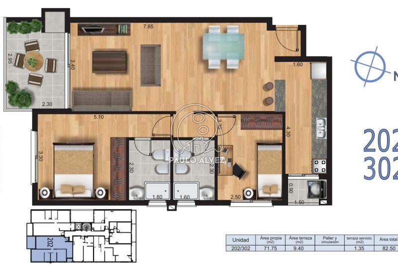 Unidad 2 dormitorios